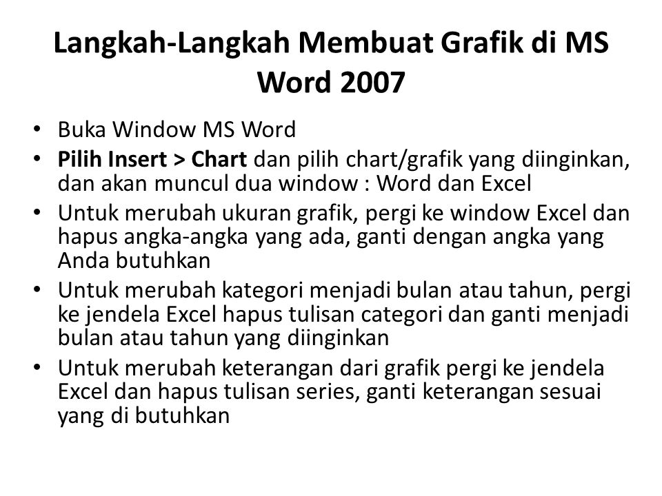 Langkah-Langkah Membuat Grafik di MS Word 2007