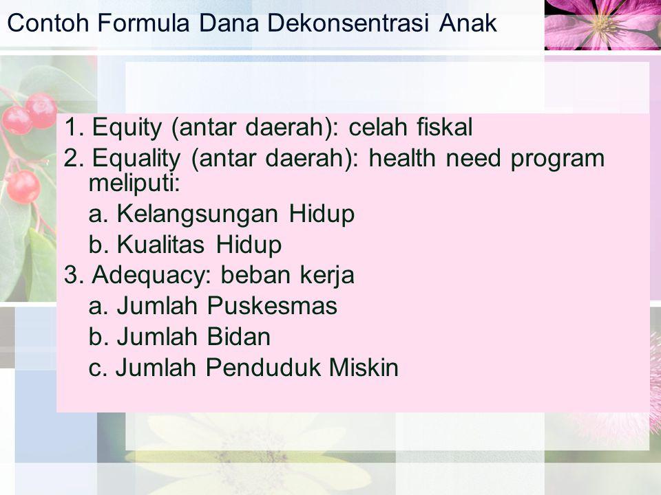 Contoh Formula Dana Dekonsentrasi Anak