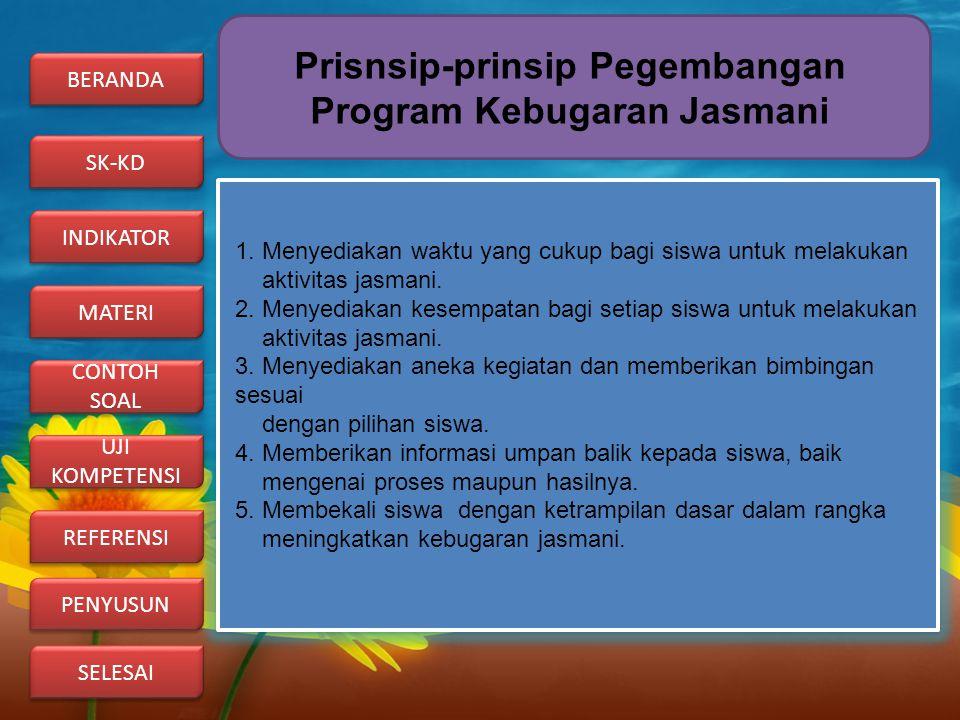 Prisnsip-prinsip Pegembangan Program Kebugaran Jasmani