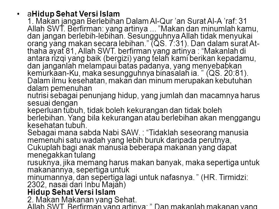 aHidup Sehat Versi Islam 1