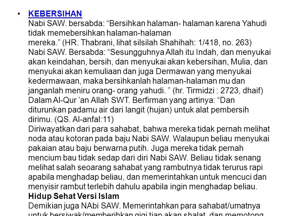 KEBERSIHAN Nabi SAW.
