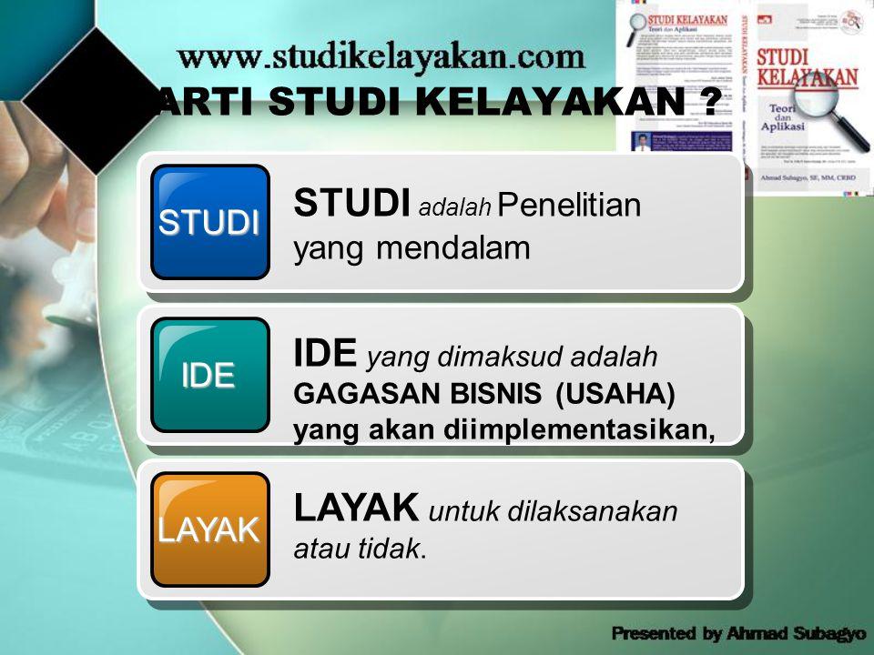 STUDI adalah Penelitian yang mendalam