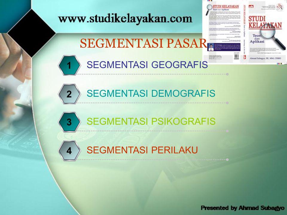 SEGMENTASI PASAR 1 SEGMENTASI GEOGRAFIS 2 SEGMENTASI DEMOGRAFIS 3