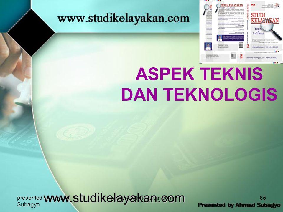ASPEK TEKNIS DAN TEKNOLOGIS