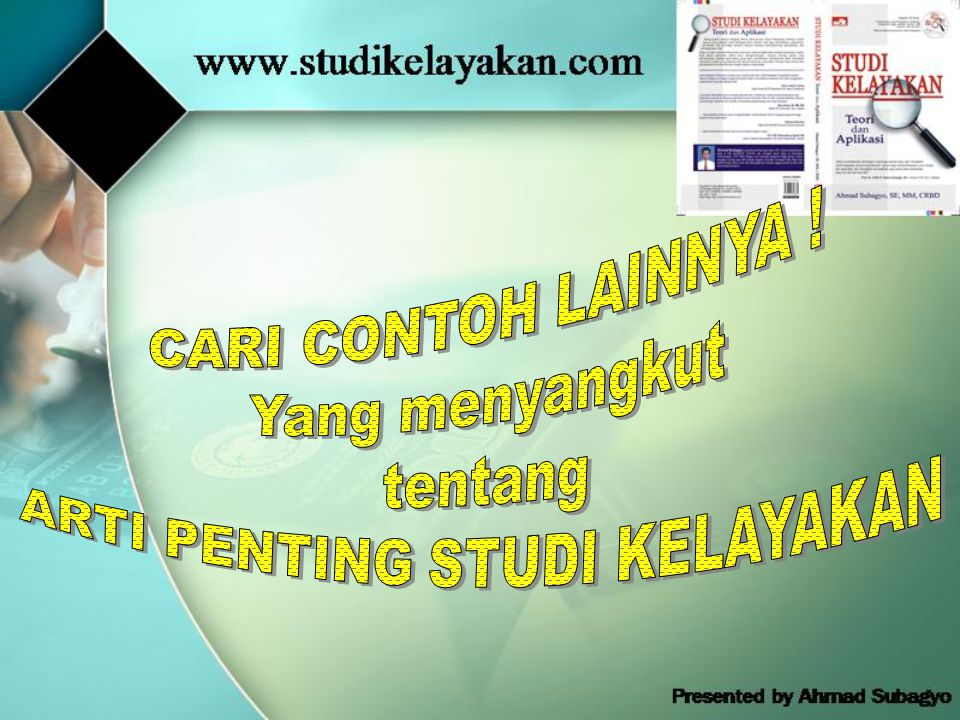 ARTI PENTING STUDI KELAYAKAN