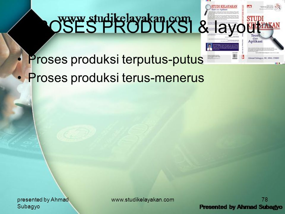 PROSES PRODUKSI & layout