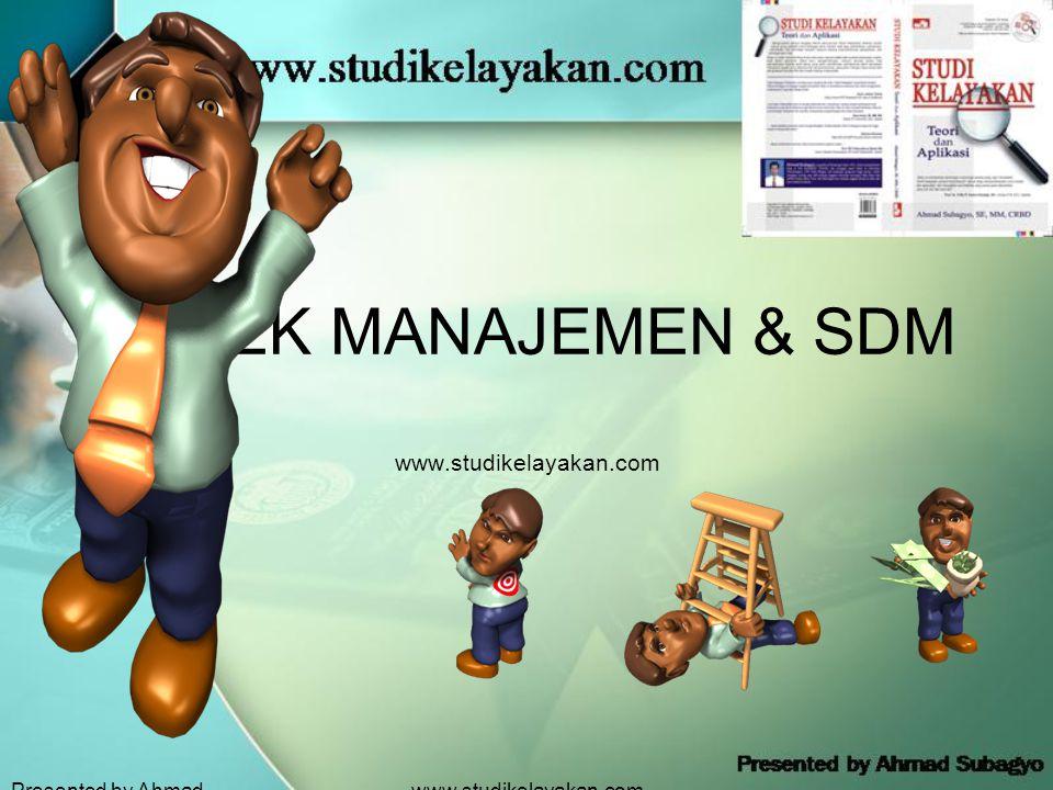 ASPEK MANAJEMEN & SDM www.studikelayakan.com