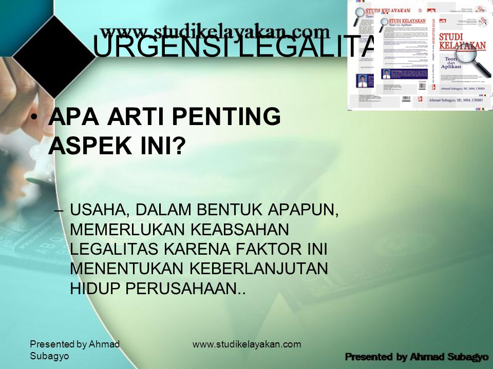 URGENSI LEGALITAS APA ARTI PENTING ASPEK INI