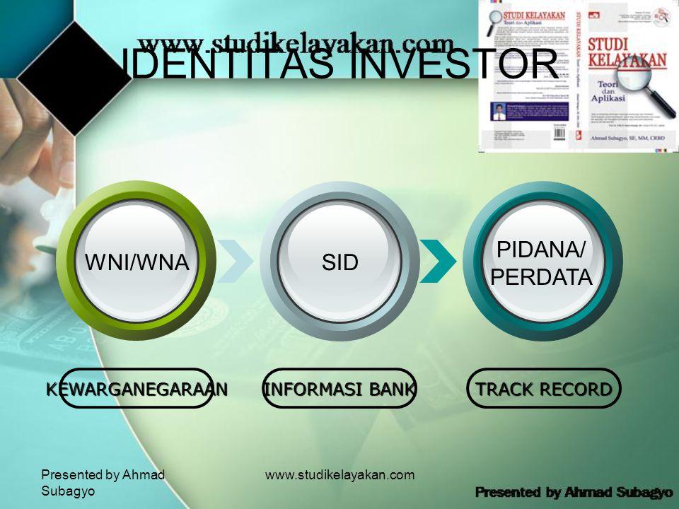 IDENTITAS INVESTOR PIDANA/ PERDATA WNI/WNA SID KEWARGANEGARAAN