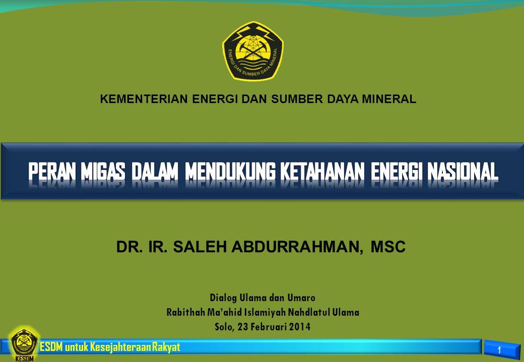 PERAN MIGAS DALAM MENDUKUNG KETAHANAN ENERGI NASIONAL