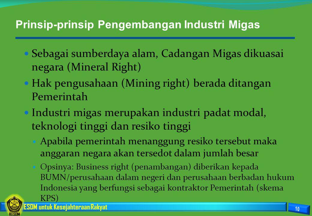 Prinsip-prinsip Pengembangan Industri Migas