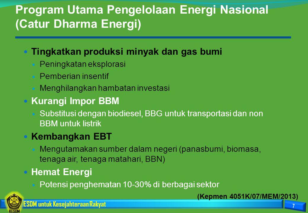 Program Utama Pengelolaan Energi Nasional (Catur Dharma Energi)