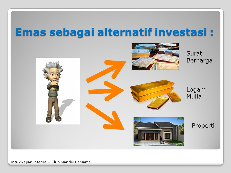 Emas sebagai alternatif investasi :