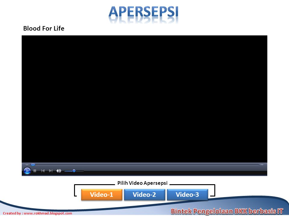 apersepsi Blood For Life Pilih Video Apersepsi Video-1 Video-2 Video-3