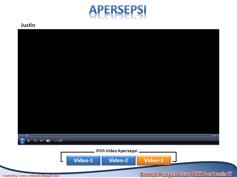 apersepsi Justin Pilih Video Apersepsi Video-1 Video-2 Video-3