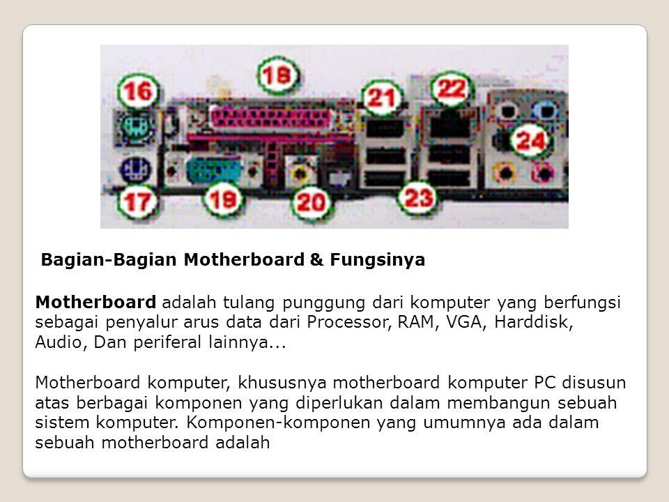 Bagian-Bagian Motherboard & Fungsinya