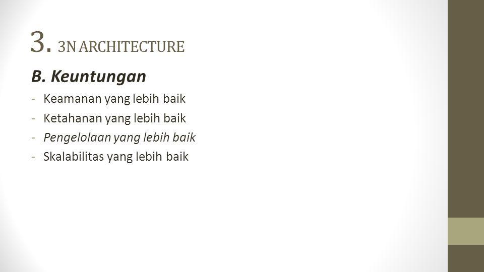3. 3N ARCHITECTURE B. Keuntungan Keamanan yang lebih baik