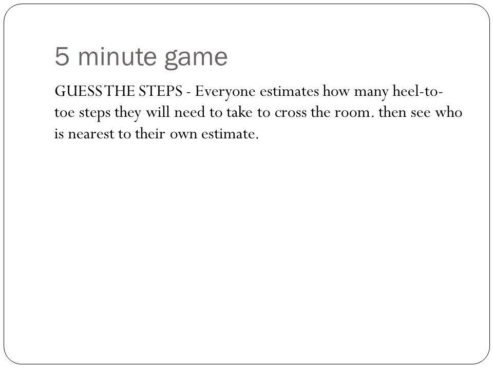 5 minute game