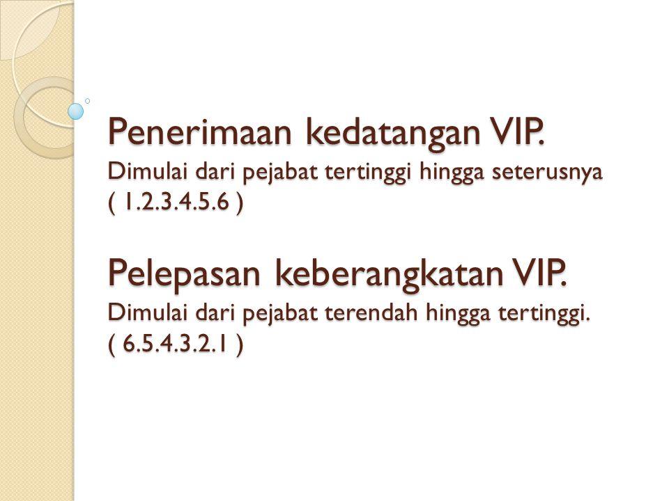 Penerimaan kedatangan VIP