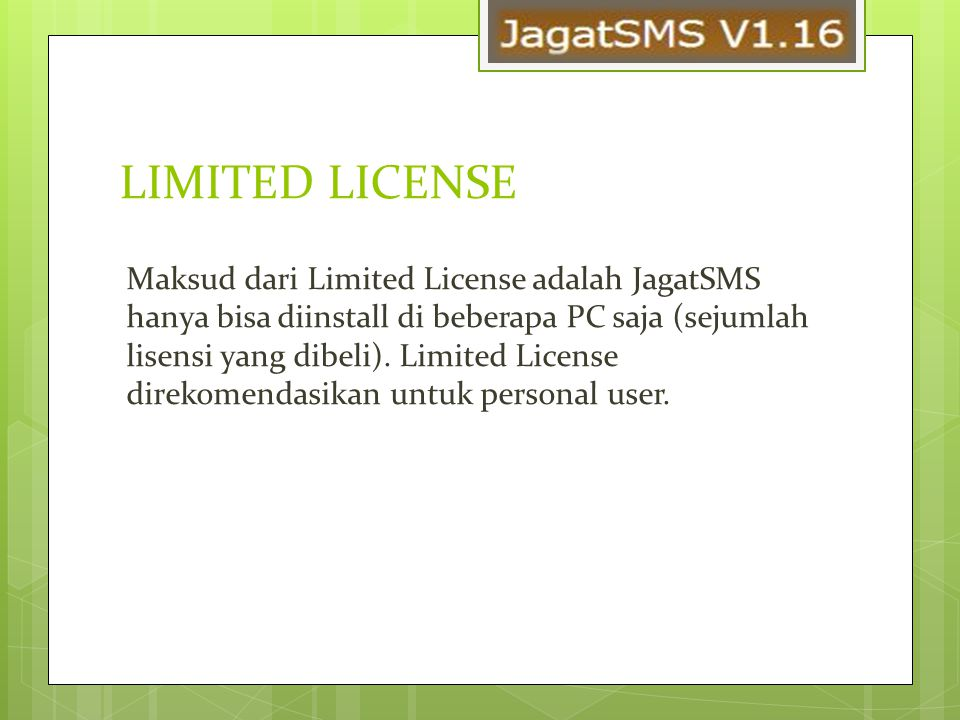 LIMITED LICENSE