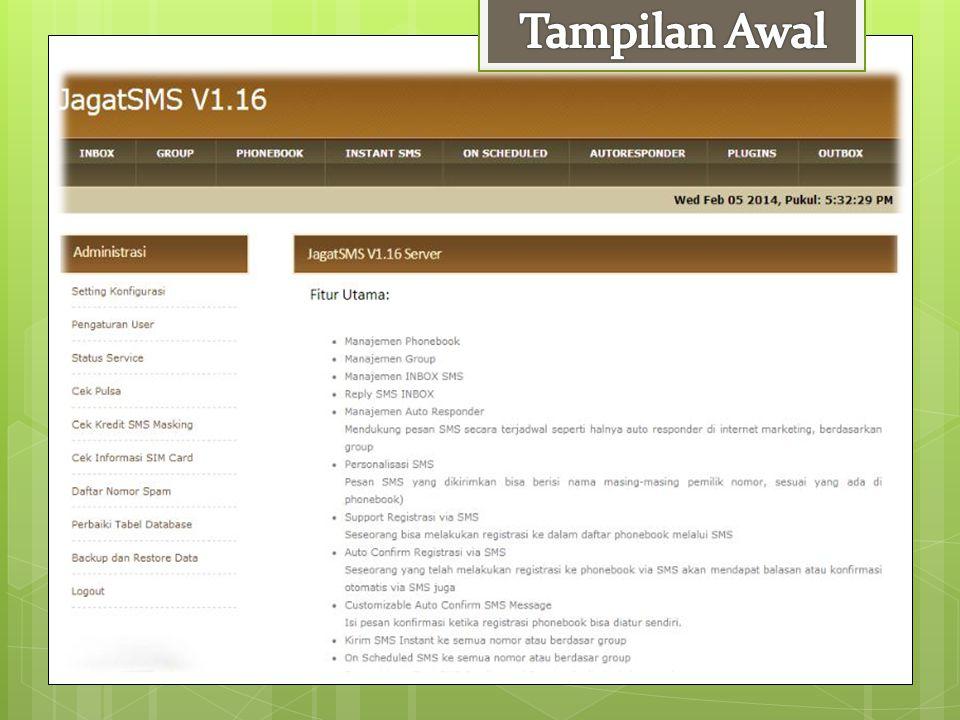Tampilan Awal
