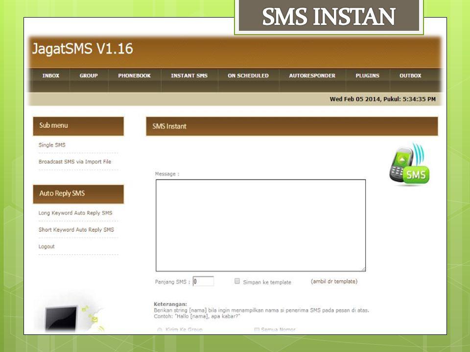 SMS INSTAN