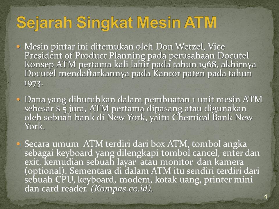 Sejarah Singkat Mesin ATM