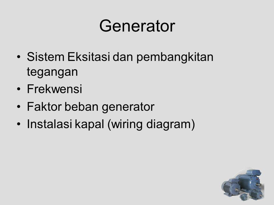 Generator Sistem Eksitasi dan pembangkitan tegangan Frekwensi