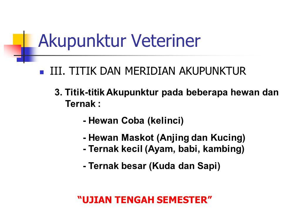 Akupunktur Veteriner III. TITIK DAN MERIDIAN AKUPUNKTUR