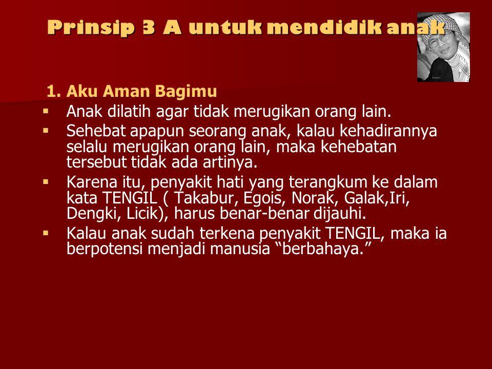 Prinsip 3 A untuk mendidik anak