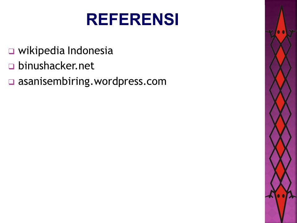 REFERENSI wikipedia Indonesia binushacker.net