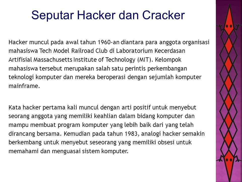 Seputar Hacker dan Cracker