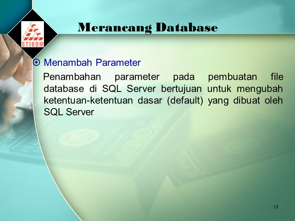 Merancang Database Menambah Parameter