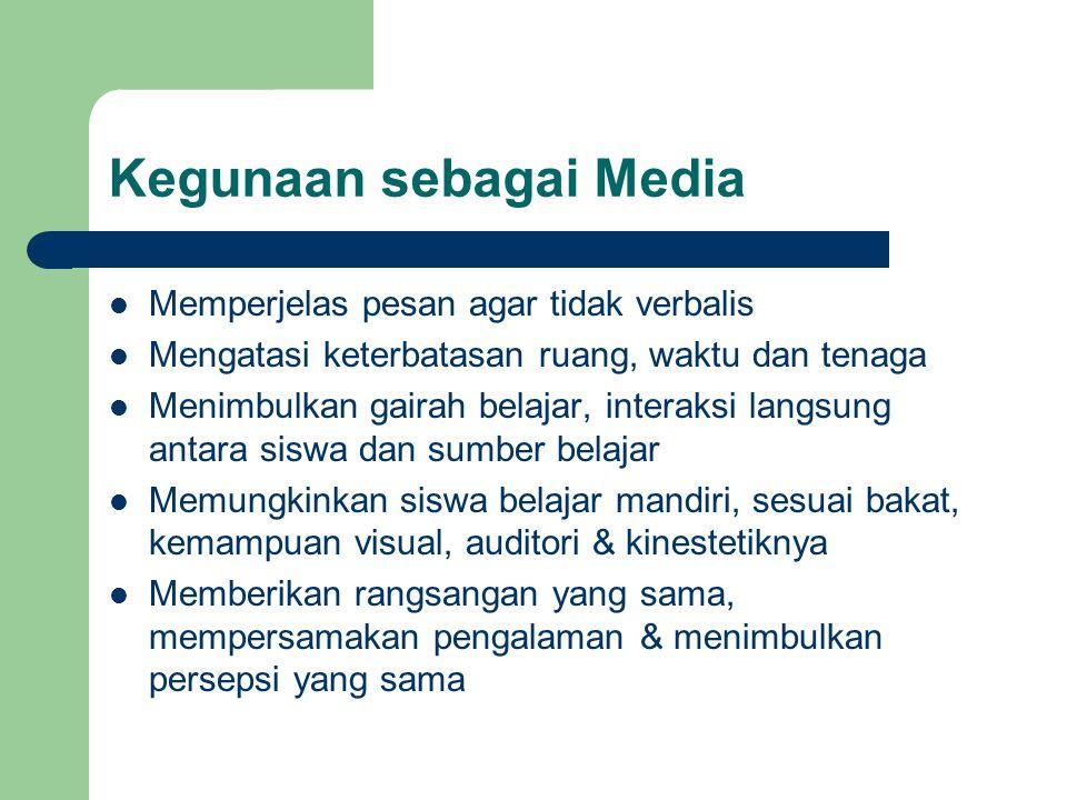 Kegunaan sebagai Media