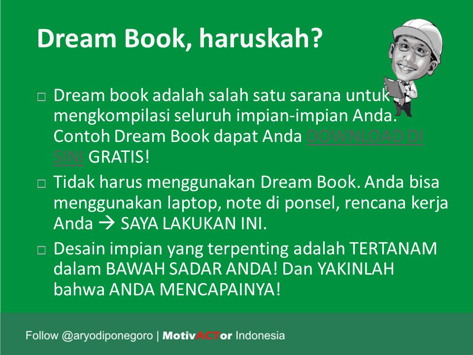 Dream Book, haruskah