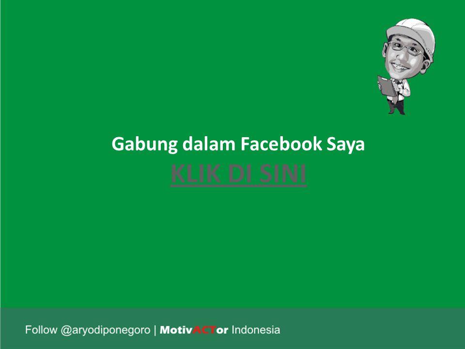Gabung dalam Facebook Saya KLIK DI SINI