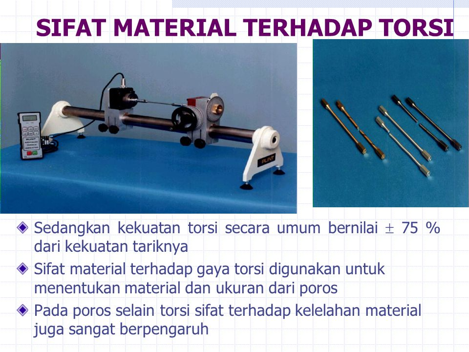 SIFAT MATERIAL TERHADAP TORSI