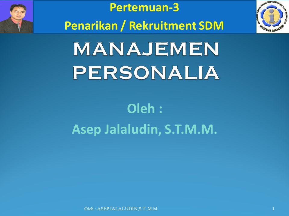 Penarikan / Rekruitment SDM