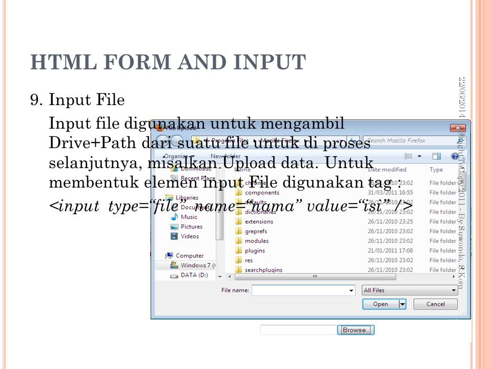 HTML FORM AND INPUT 03/04/2017.