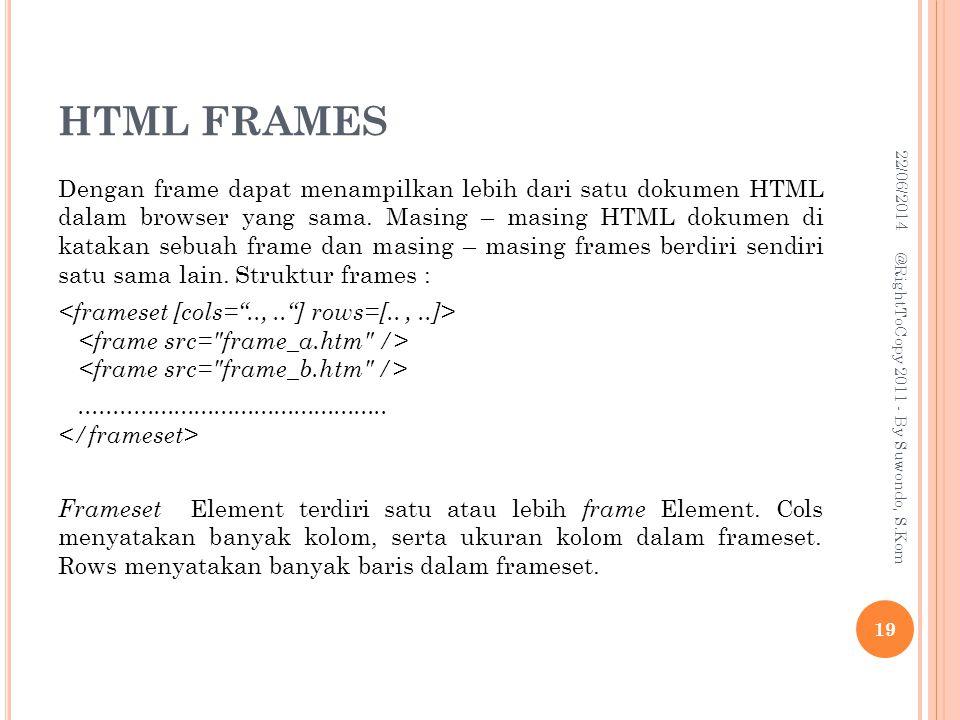 HTML FRAMES 03/04/2017.