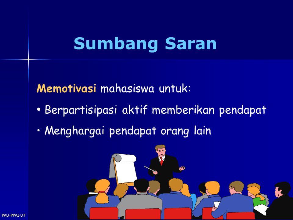 Sumbang Saran Berpartisipasi aktif memberikan pendapat