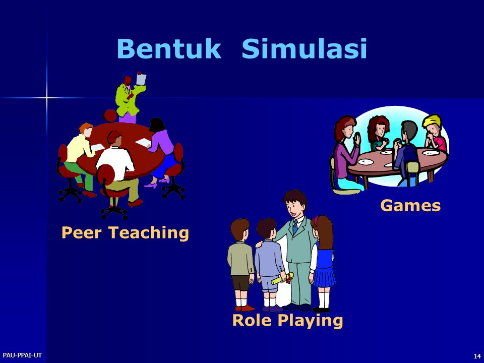 Bentuk Simulasi Games Peer Teaching Role Playing PAU-PPAI-UT