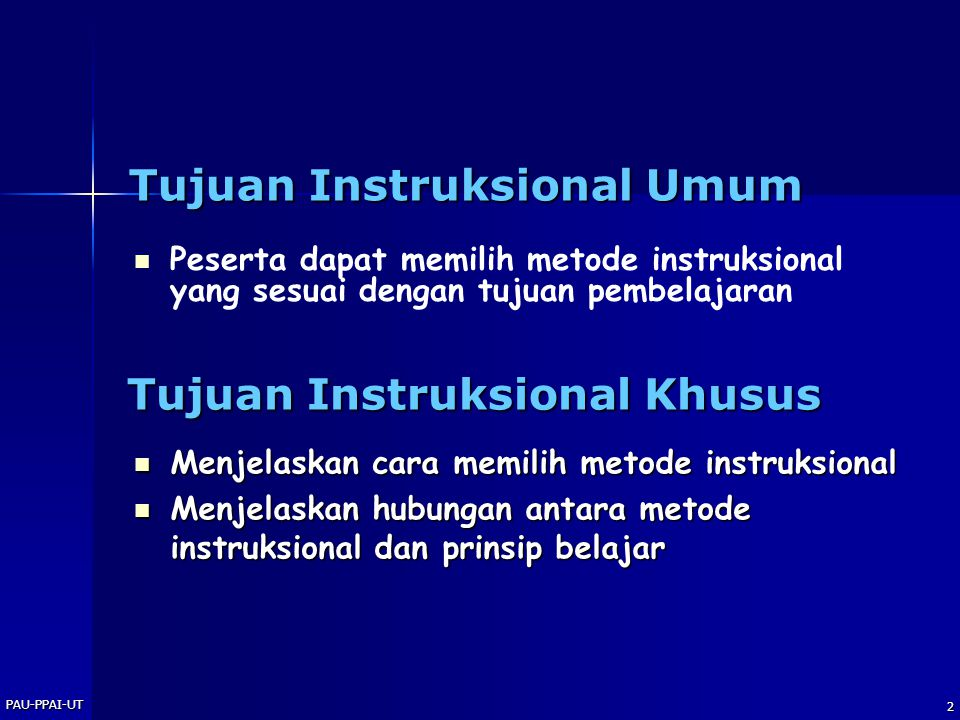 Tujuan Instruksional Umum