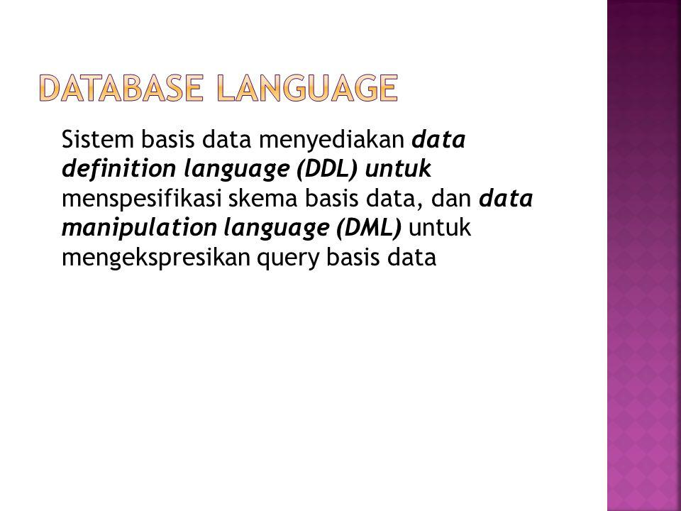 DATABASE LANGUAGE