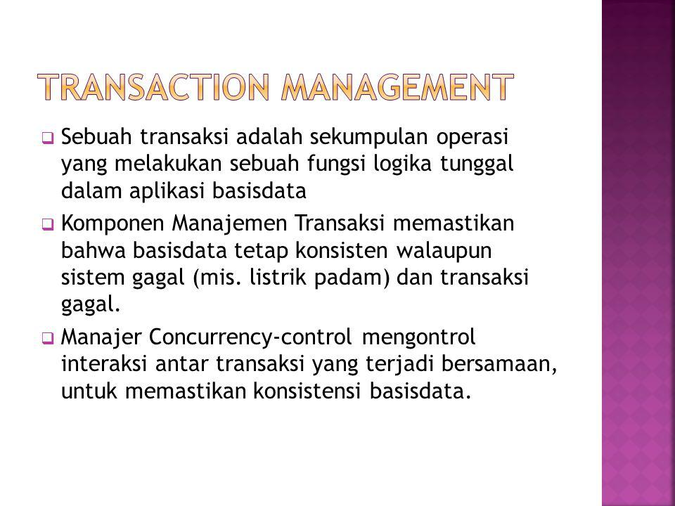 TRANSACTION MANAGEMENT