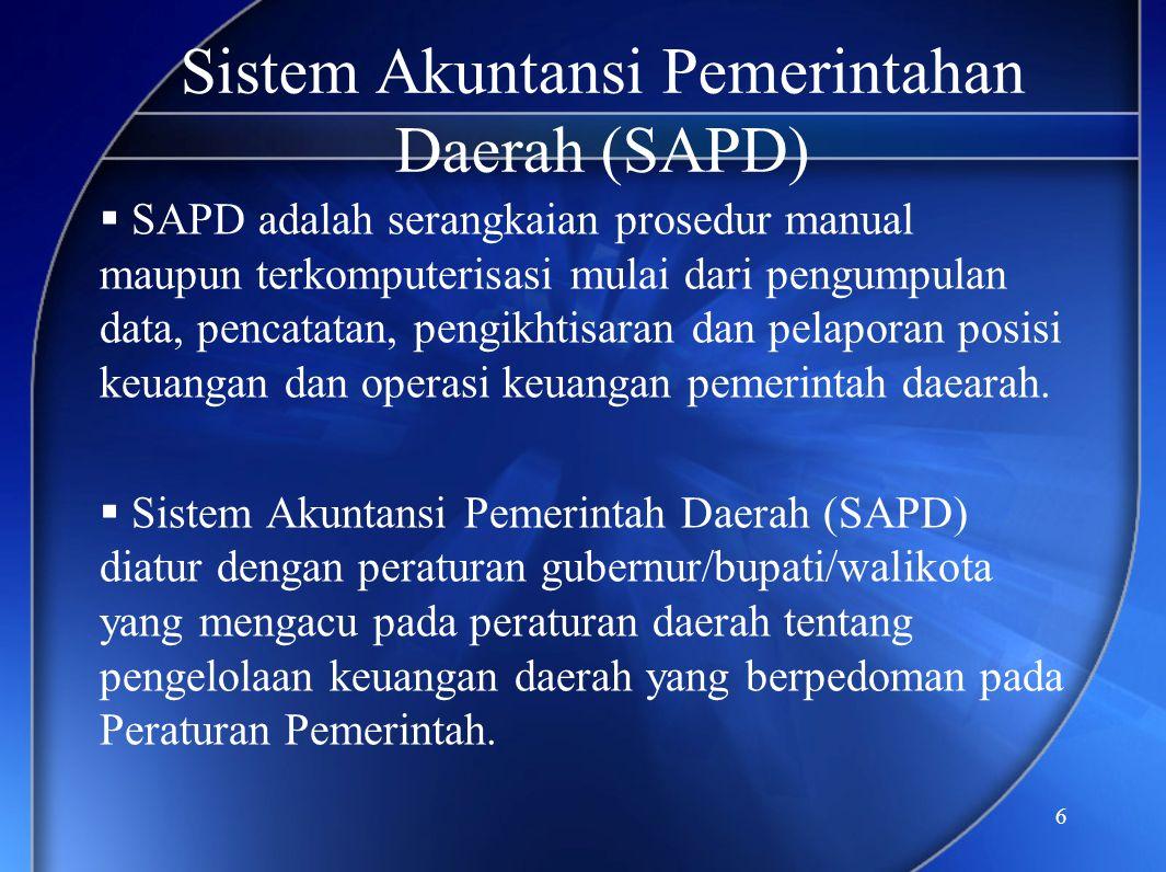 Sistem Akuntansi Pemerintahan Daerah (SAPD)