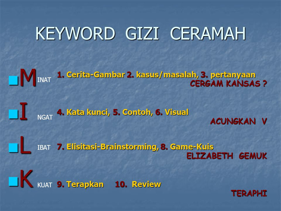 M I L K KEYWORD GIZI CERAMAH
