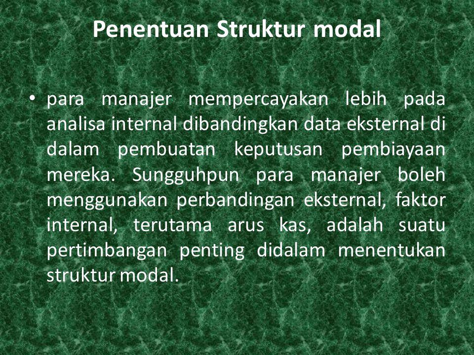 Penentuan Struktur modal