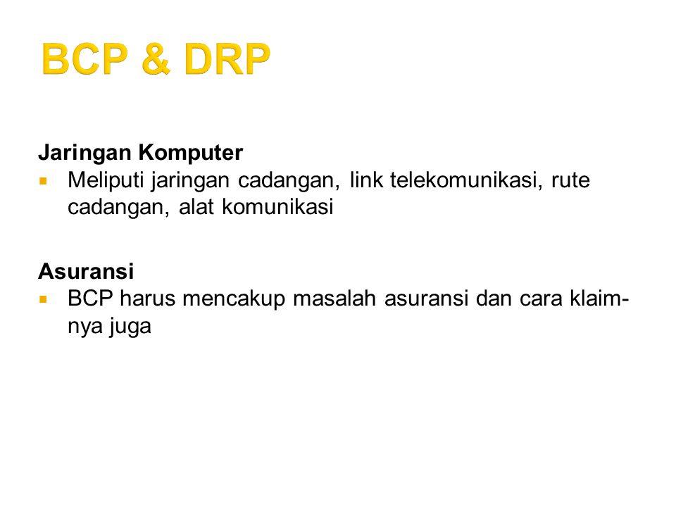 BCP & DRP Jaringan Komputer