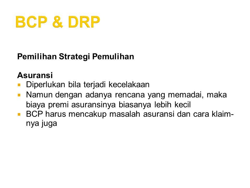 BCP & DRP Pemilihan Strategi Pemulihan Asuransi